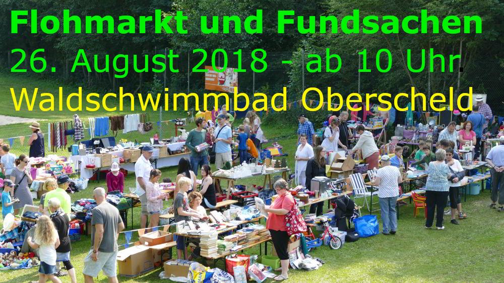 Flohmarkt und Fundsachen am 26. August