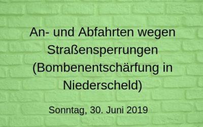 Infos zum 30.6.: An- und Abfahrt zum Waldschwimmbad von Dillenburg